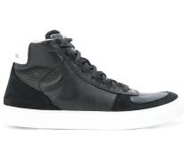 High-Top-Sneakers mit Kontrastferse