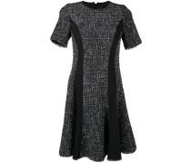 Tweed-Kleid mit Kontrasteinsätzen