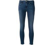 Tief sitzende Skinny-Cropped-Jeans