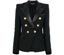 button embellished blazer