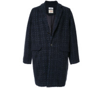 Tweed-Mantel mit Karomuster
