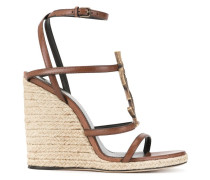'Monogram' Wedge-Espadrilles