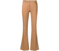 lightly flared trousers