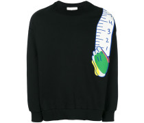 Sweatshirt mit Maßband-Print