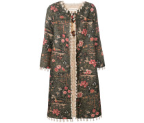 floral fitted coat