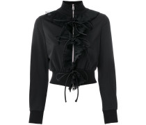 zipped fitted jacket