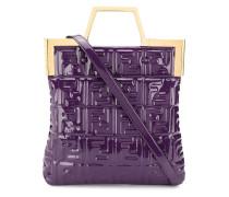 Handtasche mit eingeprägtem FF-Muster