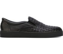 Slip-On-Sneakers aus Intrecciato-Leder