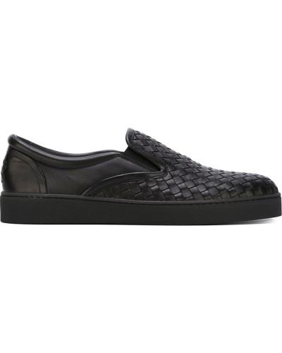 Bottega Veneta Herren Slip-On-Sneakers aus Intrecciato-Leder 2018 Neuer Online-Verkauf Insbesondere Rabatt Breite Palette Von Online-Verkauf Rabatt Großhandelspreis Verschleißfestigkeit 8pQkdb