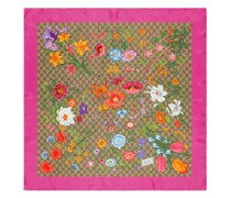 Vierecktuch aus Seide mit GG Flora-Print