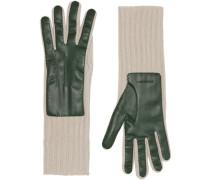 Handschuhe im Kontrast-Look