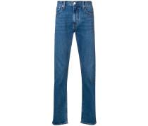 Bootcut-Jeans mit Logo-Stickerei