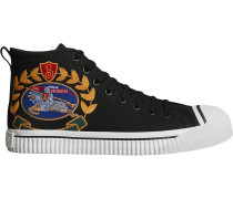 High-Top-Sneakers mit Vintage-Logo