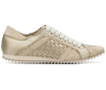 woven low top sneakers