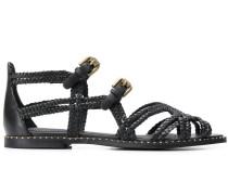 Sandalen mit gewebten Riemchen