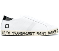 D.A.T.E. painted slogan sneakers