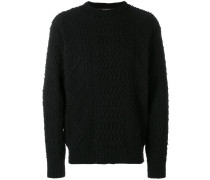 'Aran' Pullover mit Strickmuster