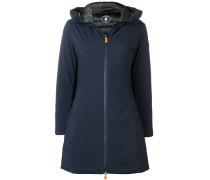 padded A-line coat