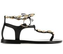'Chrysso' Sandalen mit Muscheln