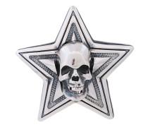 double face skull star pendant