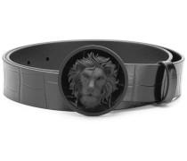 Gürtel mit Löwen-Schnalle