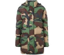 Wattierte Jacke mit Camouflage-Print