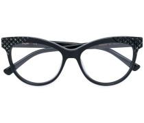 Cat-Eye-Brille mit Logo