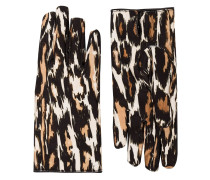 Handschuhe mit Leoparden-Print