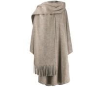 Mohair-Mantel mit Schal