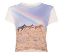 T-Shirt mit Pferd-Print
