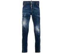 Ausgeblichene Jeans mit Patches