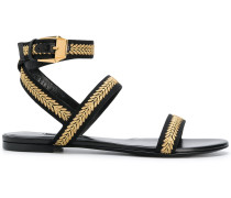 flat embroidered sandals
