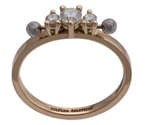 18kt 'Two In One' Gelbgoldring