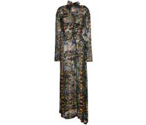 Silk blend Ameline high neck dress