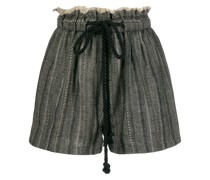 frayed herringbone shorts