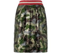 sequin camouflage mini skirt