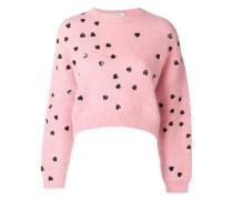 heart embellished sweater