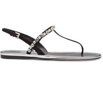 Verzierte Slingback-Sandalen
