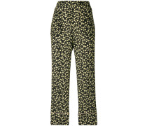 Cropped-Hose mit Stern-Print
