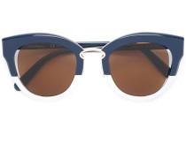 Zweifarbige Cat-Eye-Sonnenbrille