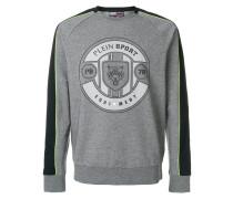 panel sleeve sweatshirt