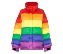 Daunenjacke im Regenbogen-Look
