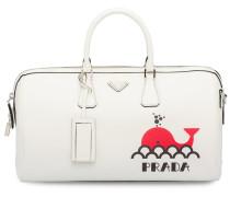 Saffiano-Reisetasche mit Print