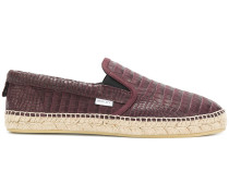 Espadrilles in Krokodil-Optik