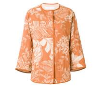 Jacke mit Blätter-Print