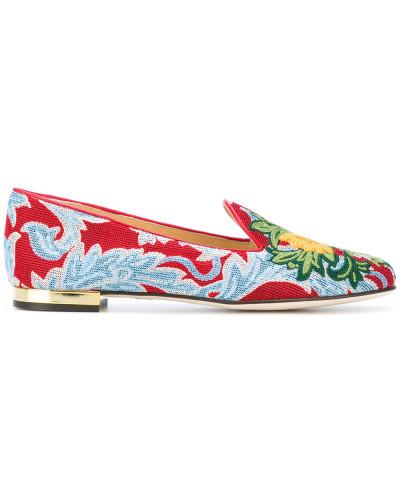 Verkauf 2018 Charlotte Olympia Damen Slipper mit Muster Billige Angebote Günstig Kaufen Footlocker Bilder zsnnF