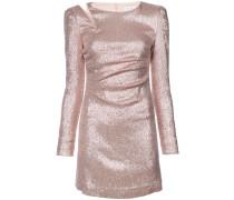 metallic fitted mini dress