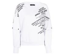 Sweatshirt mit abnehmbaren Ärmeln