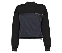 Wool and nylon gabardine sweater