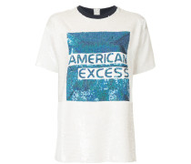 American Excess graphic sequined T-shirt